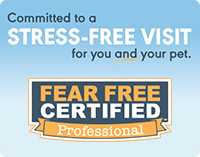 Committed to a stress-free visit for you and your pet. Fear Free Certified Professional